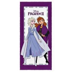 Imagem de Toalha De Banho Frozen Elsa E Anna Roxa Lepper Meninas