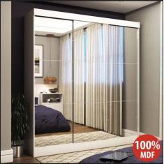 Guarda-Roupa Casal 3 Portas Gavetas com Espelho Emily Ultra Panorama Móveis