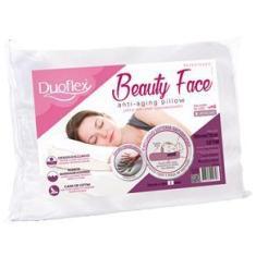 Imagem de Travesseiro Duoflex Beauty Face Nasa em Espuma Viscoelástica e Espuma Soft de Poliuretano com Capa em Cetim 46,5 x 67,5 cm –