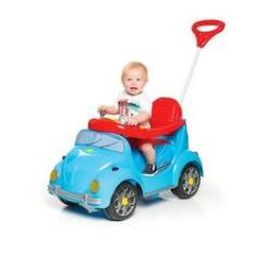 Imagem de Carrinho De Passeio Infantil 2 Em 1 Passeio E Pedal Fouks  Com Buzina - Calesita
