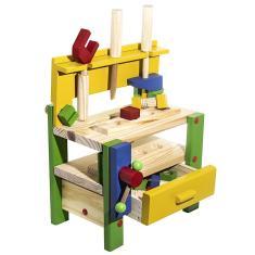 Imagem de Brinquedo De Madeira Mesa Bancada De Ferramentas Infantil
