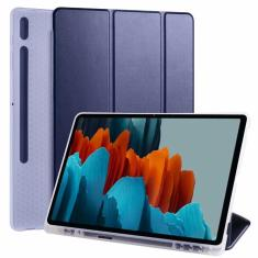 Imagem de Para Samsung Galaxy Tab S7 mais 12.4 Caso com suporte a lápis SM-T970 T975 pu Stand Inteligente para Tab S7 11 ''SM-T870 T875 Case