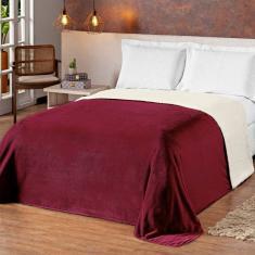 Imagem de Cobertor Coberdrom Casal Queen Size Felpudo e Macio Dupla Face Pele de Carneiro