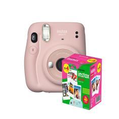 kit Câmera Instantânea Fujifilm Instax Mini 11 Rosa + Filme com 40 Fotos