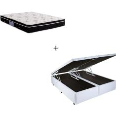 Imagem de Cama Box Baú Queen com Baú com Colchão Ortobom Nanolastic Physical 158cm Bello Box