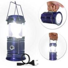 Imagem de Luminária Led Retrátil Lampião Solar Recarregável Bivolt Usb  Lanterna Alças Luz Emergência