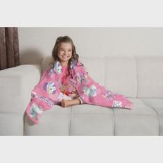 Imagem de Manta de Sofá Unicórnio Fleece Doce Fantasia 1,25X1,50m Lepper