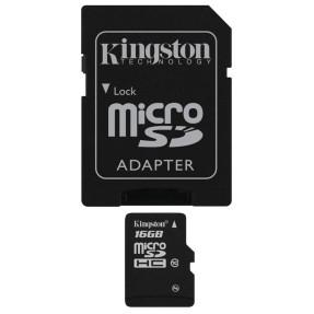 Cartão de Memória Micro SDHC com Adaptador Kingston 16 GB SDC10/16GB