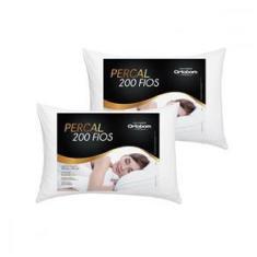 Imagem de 2 Travesseiro em Fibra de Silicone 50x70 cm Ortobom Fascínio