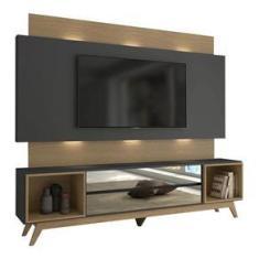 Imagem de Home Para Tv Até 65 Polegadas C/LED -TB143L - Dalla Costa - Grafite/Carvalho