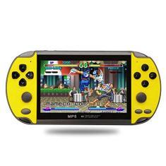 Imagem de JINQII X7 Console de Jogo Portátil de 4,3 Polegadas Consola Nostalgic Dual-Shake Game Console 8G Jogos Embutidos 6000, Apoio GBC/GBA/FC/MD/Arcade/NES/CPS/SFC Games