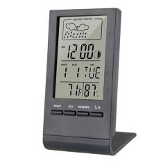 Imagem de Termômetro Higrômetro Indicador Medidor Interno Externo Automático Tempo