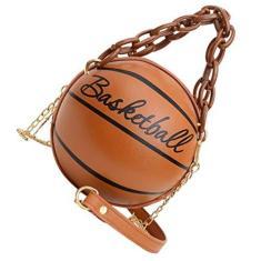 Imagem de SOIMISS Bolsa de Ombro para Basquete Feminino Meninas Bolsa Bolsa Bolsa Mini Crossbody Bolsa Redonda Handbag