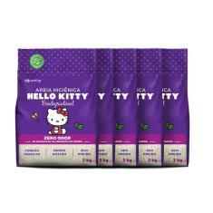 Imagem de Areia Higiênica Hello Kitty Grossa Roxa Biodegradável 10 Kg