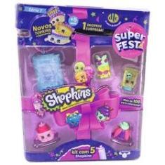 Imagem de Kit Com 5 Shopkins Super Festa Sortidos - Dtc