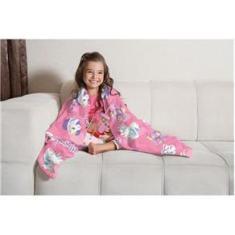 Imagem de Manta Infantil Doce Fantasia Fleece Estampada Lepper