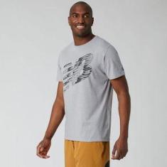 Imagem de Camiseta Manga Curta New Balance Heathertech Masculina  - P