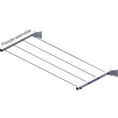 Imagem de Avatron Varal de Roupas Retrátil de Parede Recolhível de até 16 metros VAR-4000-W
