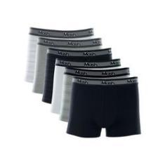 Imagem de Kit Com 6 Cuecas Boxer Listras Algodão 110.09 Mash