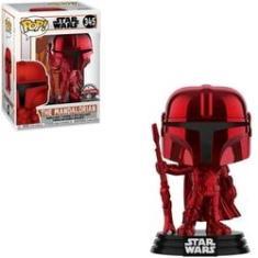 Imagem de Funko Pop Star Wars 345 The Mandalorian Chrome Red Special