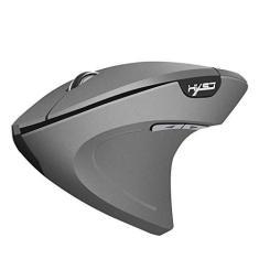 Imagem de Mouse sem fio Almencla 2,4 GHz óptico vertical para jogo/escritório mouse com 3 DPIs ajustáveis: 800/1600/2400, 6 botões de controle -