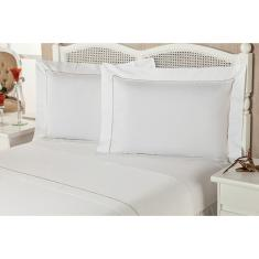 Imagem de Jogo de Cama Queen Premium Caress 4 Peças 100% Algodão Percal 233 Fios - Plumasul