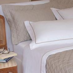 Imagem de jogo de cama casal scavone 300 fios 100% algodão normandie caqui