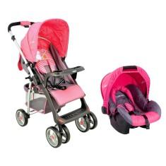 Carrinho de Bebê Travel System com Bebê Conforto Kiddo Zap