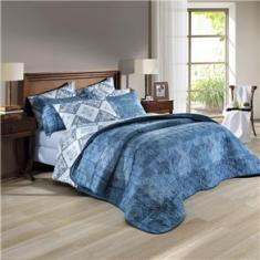 Imagem de Jogo de cama duplo queen 150 fios linha Prata estampa Allison - Santista
