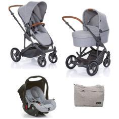 Imagem de Kit Carrinho COMO 4 Moisés e Bebê Conforto Woven Grey - ABC