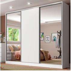 Guarda-Roupa Casal 3 Portas 4 Gavetas com Espelho Royale 2E Madesa