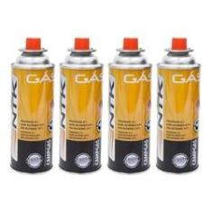 Imagem de Kit Refil 4 Unidades Cartucho De Gás Campgas Ntk