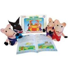 Imagem de Fantoches Tres Porquinhos com Livro
