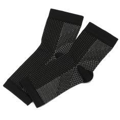 Imagem de 1 par de meias de alívio do inchaço da manga de compressão anti-fadiga do tornozelo L / xl
