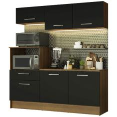 Imagem de Cozinha Compacta 1 Gaveta 6 Portas Onix 180001 Madesa