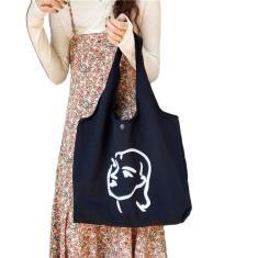 Imagem de Ilustração simples Feminino Vest Bag portátil ombro saco de Grande Capacidade