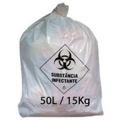 Imagem de Saco de Lixo Infectante 50 Litros  Hospitalar c/100 unid.