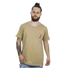 Imagem de Jungle Back - Camiseta Masculina Surf And Beer Bege - Jb3007-Bg