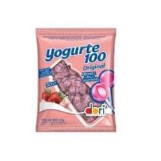 Imagem de Pirulito Morango com Recheio de Bala Mastigável Yogurte Original Dori 525g