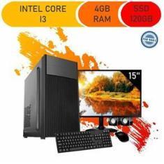 Imagem de Computador Completo Corporate I3 4Gb 120Gb Ssd Windows 10 Monitor 15