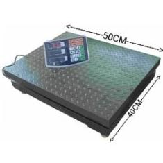 Imagem de Balança digital 300kg plataforma 40x50 Bateria longa duração