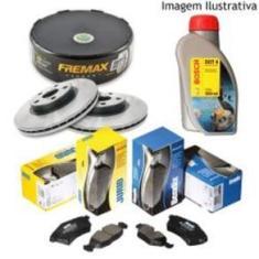 Freio Discos Pastilhas Fluido Gm Onix 1.0 1.4 2013/ (Kit Dianteiro)