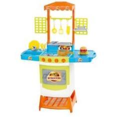 Imagem de Kit Lanchonete Infantil Cozinha Mini Burguers - Magic Toys