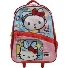 Imagem de Mochila Infantil Hello Kitty E Mônica De Rodinha Grande - Ref: 7920 - Xeryus