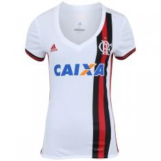 Camisa Feminina Flamengo II 2017 18 Sem Número Torcedor Feminino Adidas dac41fbcf5d82