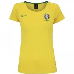 786eed94c58ea Camisa Feminina Supporter Brasil I 2018 19 sem Número Torcedor Feminino Nike