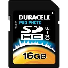 Cartão de Memória SDHC-I Duracell 16 GB DU-SDHC1016GU-R
