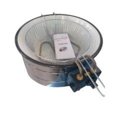 Imagem de Fritadeira Elétrica Inox Redonda Tacho 5 Litros BONI 220 V