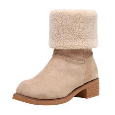 Imagem de Botas femininas Botas de neve de inverno Botas de meia canela com zíper Botas de cowboy quentes