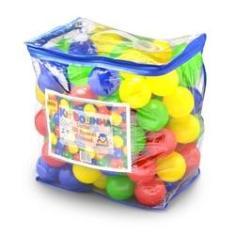 Imagem de Kit 100 Bolinhas Coloridas de Plástico - Braskit